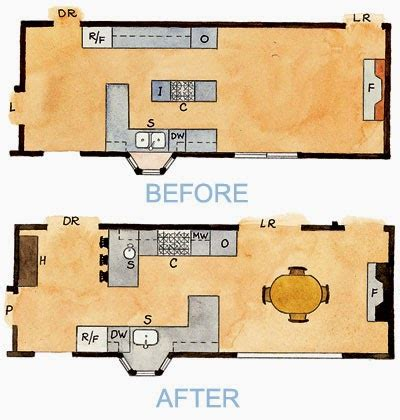 Kitchen Floor Plans Before And After All In The Detail Kitchen 3 Before And After