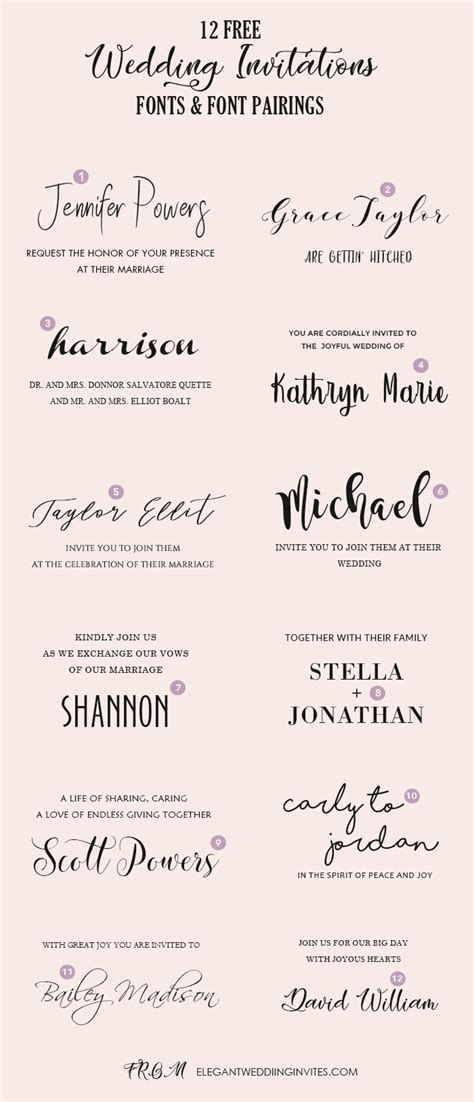 Wedding Invitation Font Pairing Guide with Free Killer