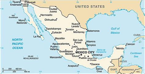 map of west mexico west coast mexico map