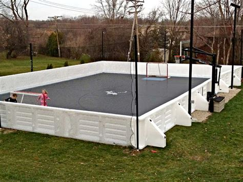 Backyard Putting Greens Cost Custom Multi Sport Backyard Home Court Hockey Amp Futsal