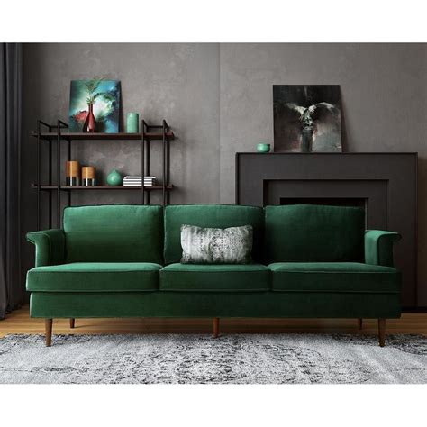 emerald green velvet sofa best 25 green sofa ideas on emerald green