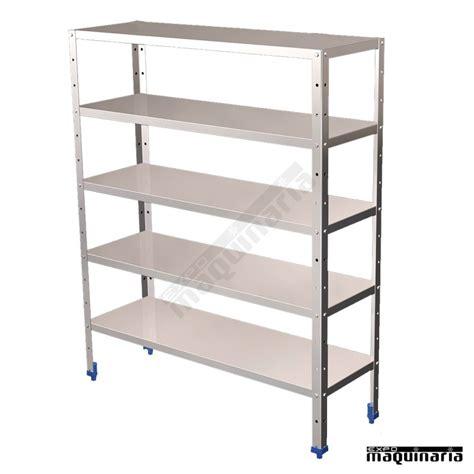 estante acero inoxidable estanter 237 a de acero inox con 5 estantes frestante5 1 5