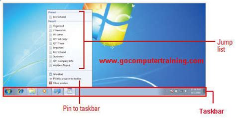 windows 7 start bar on top windows 7 taskbar the elements and usage of windows