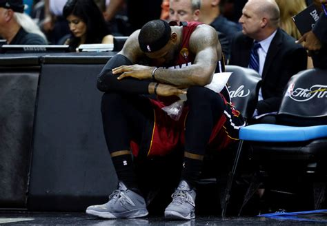lebron james bench lebron james pictures 2014 nba finals game one zimbio