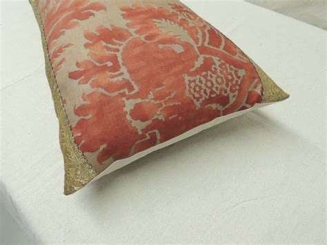 Big Pillows For Sale Large Fortuny Bolster Pillow For Sale At 1stdibs