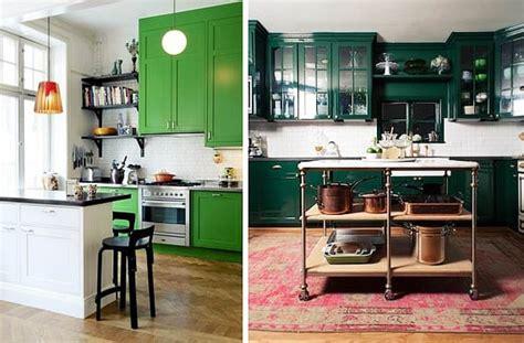 muebles verdes  decorar tu cocina te atreves