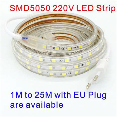 220v smd 5050 led light 220 v power white warm