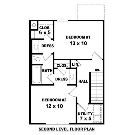 the third floor bedroom short story two story house plans home design 170 1349