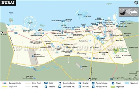 dubai uae map dubai city map world cities and their maps