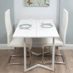 Folding Dinner Table by Matrix Enkore White Folding Dining Or Console Table At