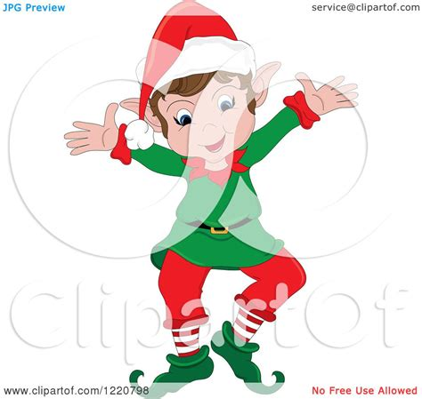printable elf arms clipart of a happy christmas elf with open arms royalty