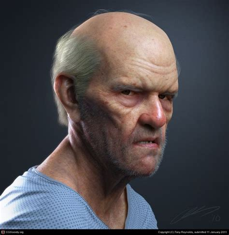 zbrush tutorial portrait cgtalk portrait of an old man tony reynolds 3d quot this