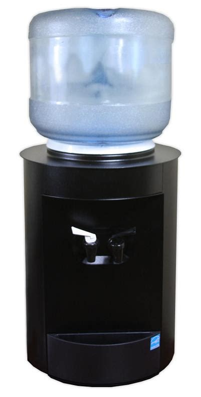 Room Temperature Water Cooler by Celsius Countertop Bottled Water Cooler Powdercoated Black