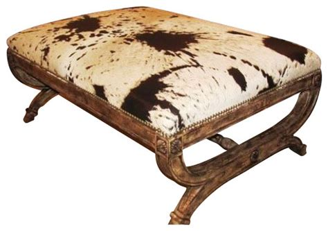 rustic ottomans caledonia ottoman rustic footstools and ottomans by