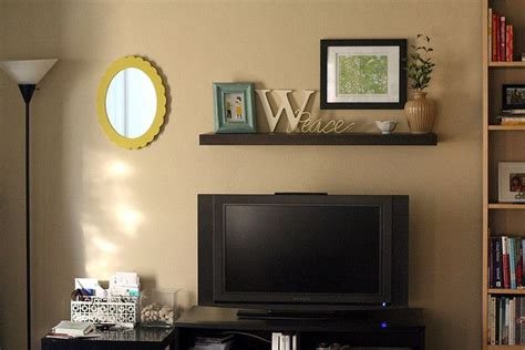 i like this floating shelf the tv get in my house