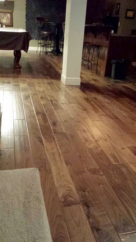 Natural Walnut Floors installation in Kansas home