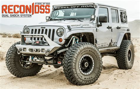 offroad jeep recon complete front dual shock system 2007 2018