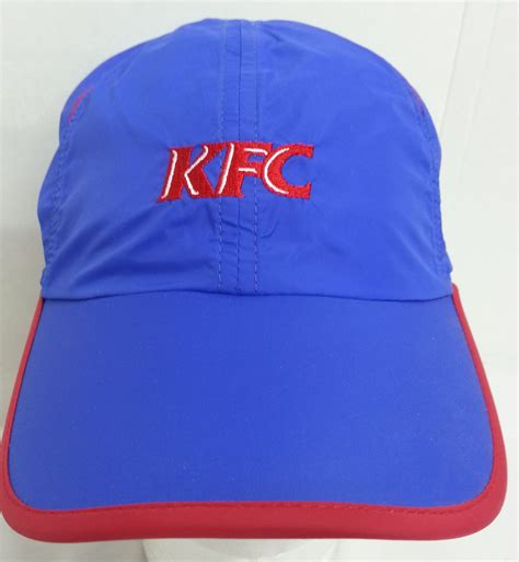 Who Sells Kfc Gift Cards - kfc blue red 100 polyester adult hat adjustable baseball cap ebay