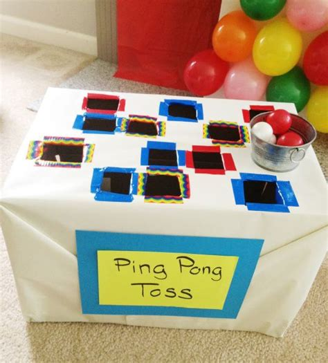 diy indoor games fair themed family fun pinterest carnival games card boards and shape games