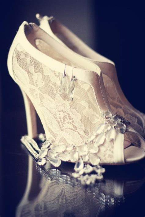 winter wedding vintage lace wedding shoes 1911881