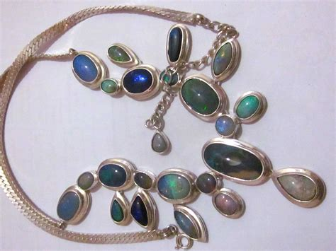 Handmade Opal Jewelry - silver necklace opal necklace handmade opal necklace