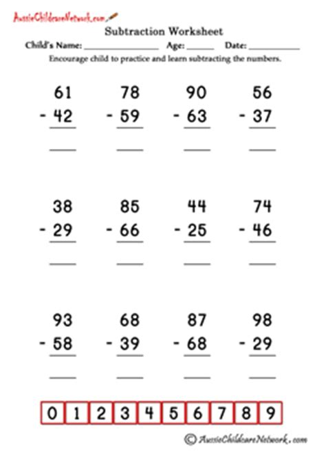 Subtraction With Borrowing Worksheets Free