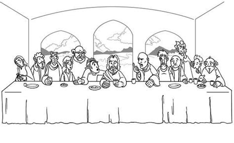 Jesus 12 Disciples Coloring Page Images Diagram Writing Jesus Last Supper Coloring Page