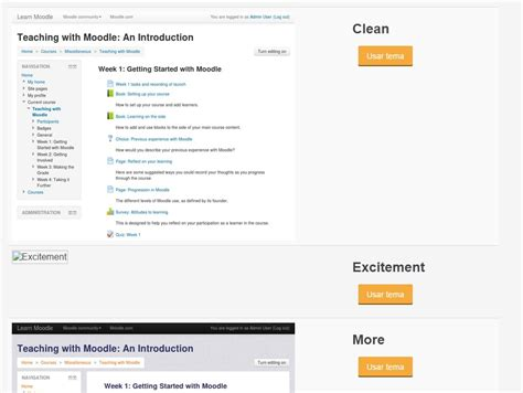 moodle theme not showing in list moodle in english images of new theme not bein shown