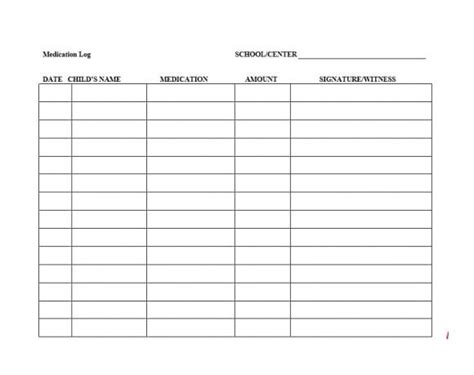 top result 60 best of medication signing sheet template photography