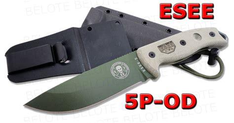 esee plain edge od blade with kydex sheath esee model 5 od green plain edge w kydex sheath 5p od ebay