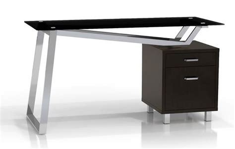 Sho Black Metal small home office systems sho 9001b black glass top metal
