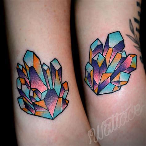 crystal tattoo 15 sparkling tattoos gems tattoos