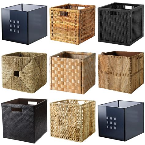 Garden Bench Box With Storage by Ikea Boxes Baskets Dimensioned To Fit Expedit Shelving