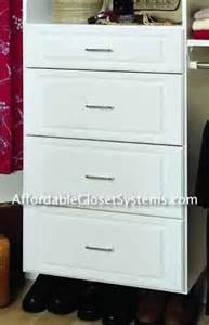 Closet Drawer System Closet Solutions By Affordable Closet Systems Inc