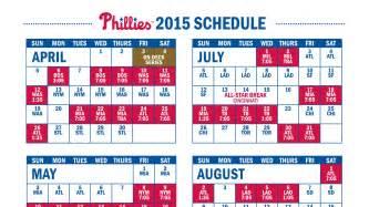 phillies home schedule phillies release 2015 schedule