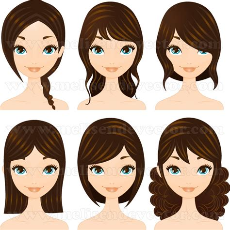 Cute Hairstyles Vector | vector hairstyles set by melisendevector on deviantart