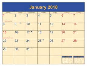 Calendar 2018 Pdf Canada January 2018 Calendar Printable Template Pdf Uk Usa Canada