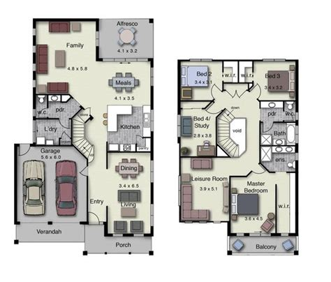 4 bedroom duplex floor plans duplex small house design floor plans with 3 and 4 bedrooms