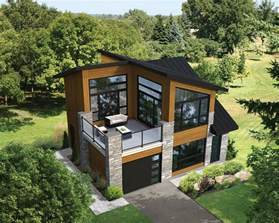 Small House Plans With Second Floor Balcony Plan 80878pm Dramatic Contemporary With Second Floor Deck