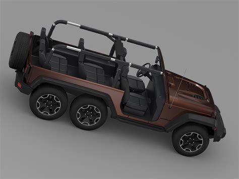 jeep models 2016 jeep wrangler rubicon 6x6 2016 3d model max obj 3ds fbx