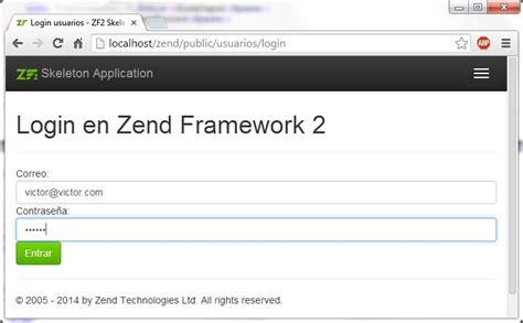 zend framework 2 layout phtml autenticaci 243 n en zend framework 2 victor robles victor