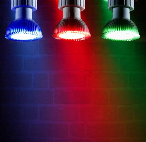 red and green light 4w coloured narrow beam led gu10 light bulb red green