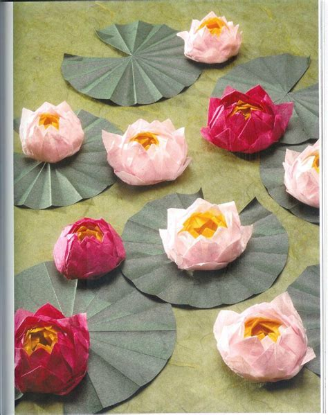 How To Make Lotus Flower From Paper - origami lotus flower tutorial