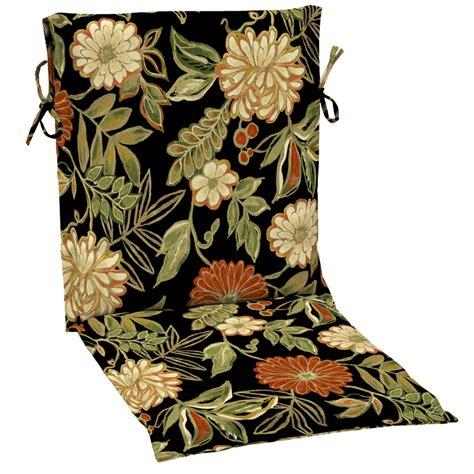 Patio Chair Cushions Floral Shop Garden Treasures Floral Black Floral Black Patio