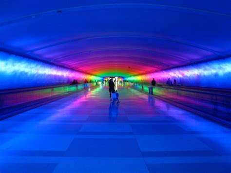 detroit airport light tunnel the mcnamara tunnel detroit airport jim on light