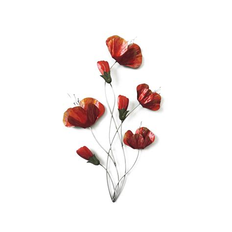 Decoration Coquelicot by D 233 Coration Murale Coquelicot En M 233 Tal Ambiance Cadres
