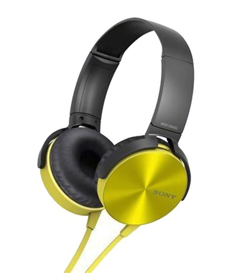 Sony Headphone Xb 337 buy sony bass xb headphones mdr xb450 yellow at best price in india snapdeal