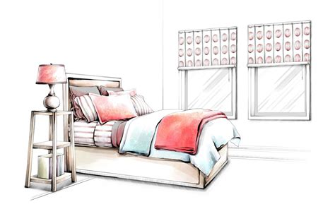Interior Design Styles Bedroom Sketch 手绘室内家居图片 设计馆