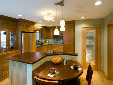 contemporary eat in kitchen island contemporary
