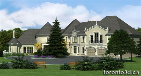 House Plans Architectural 3d archiitectural rendering exterior classical house model
